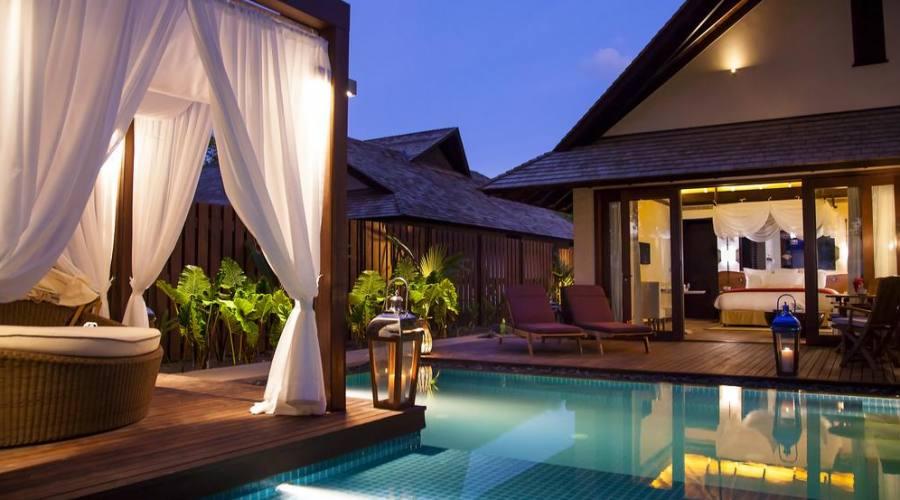 terrace beach villa pool