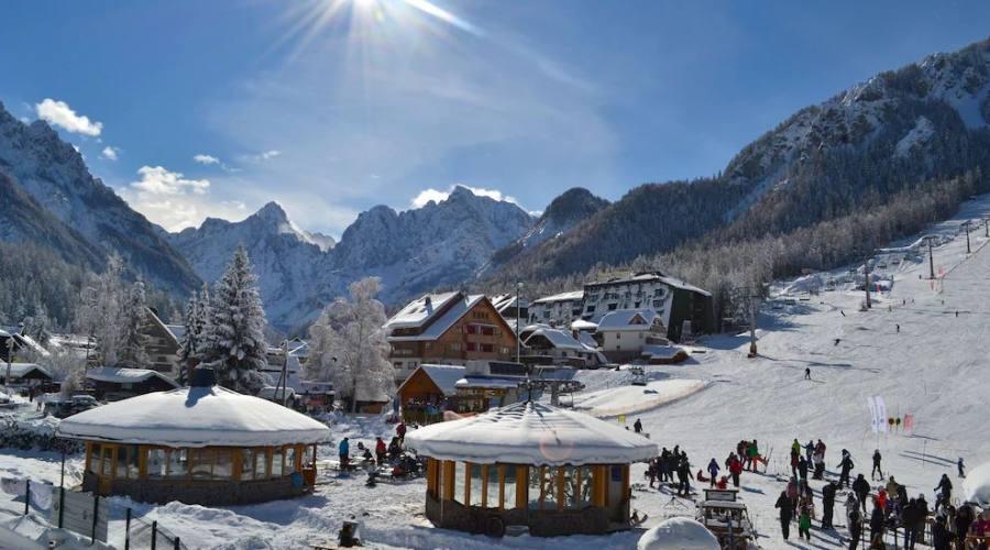Panoramica con la neve