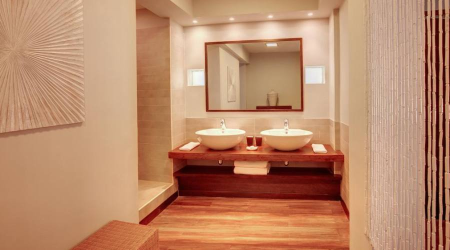 Il bagno della camera deluxe