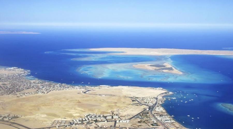Vista dall'alto su Sharm